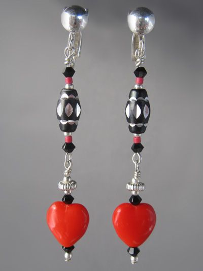 Earrings made with rare vintage beads and sterling silver - a special birthday gift for a friend!