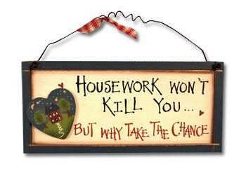 Housework Disclaimer