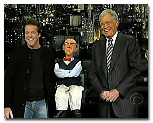 Jeff and Walter with David Letterman