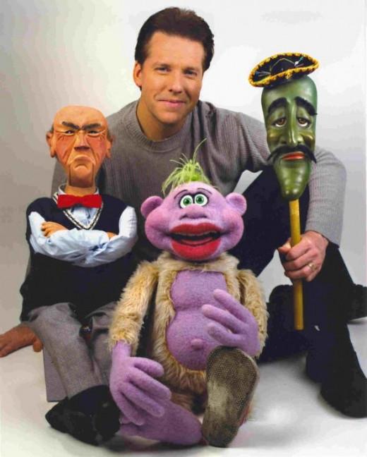 Walter, Jeff Dunham, Jose, and Peanut