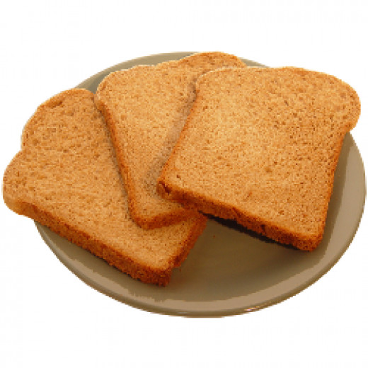 Moist, chewy slices of bread.