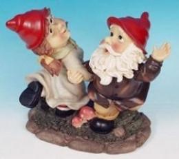 Dancing Valentine Garden Gnomes
