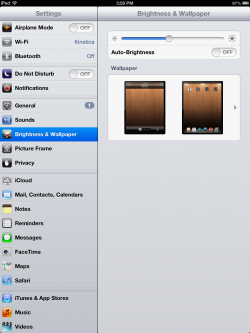 brightness settings on ipad