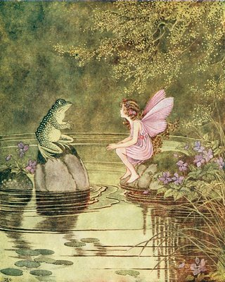 Fairy Tale Frog and Fairy