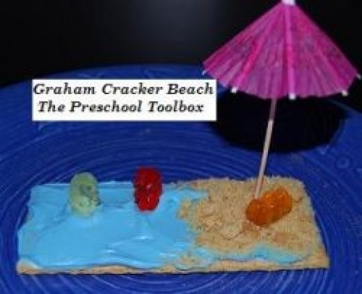 "Graham Cracker ""Beach"" Snack"