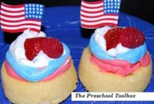 Patriotic Dessert Shells