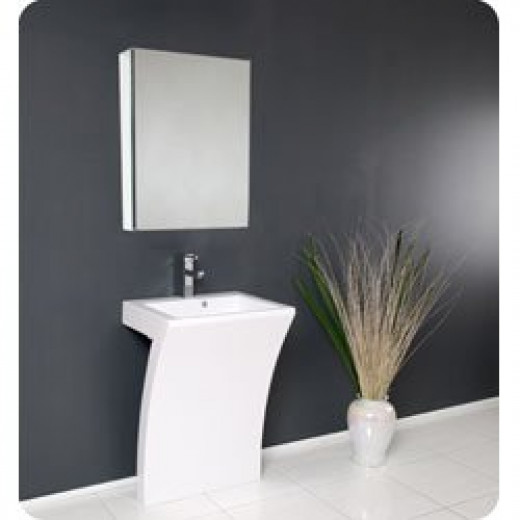 23 Inch Modern White Vanity Sink for Small Bathrooms