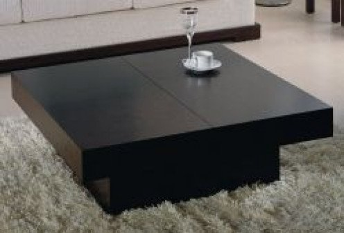 Image credit: Amazon.com. The black square coffee table (with storage underneath) shown here is available below.