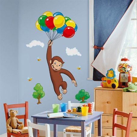 Curious George Giant Wall Decal/Sticker