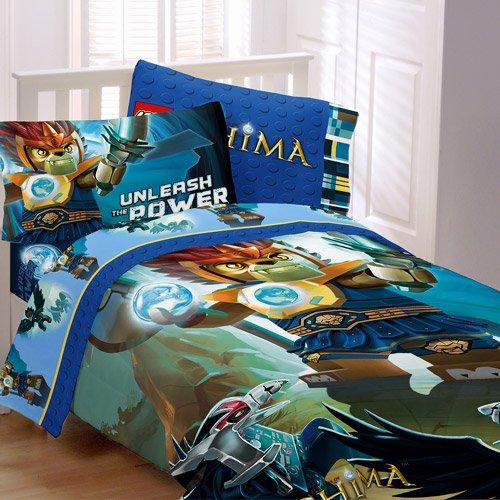 LEGO Legends Chima 5-Piece Full Size Comforter & Sheet Bedding Set for Kids