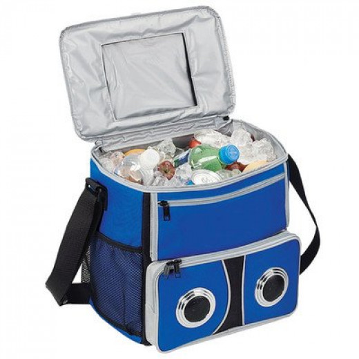 Bellino Soft-Sided Beach Cooler with Built-In Speakers and Carry Strap