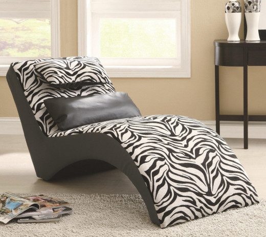 Zebra Print/Strip Chaise Lounge
