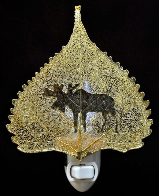 24 Karat Gold with Moose Image