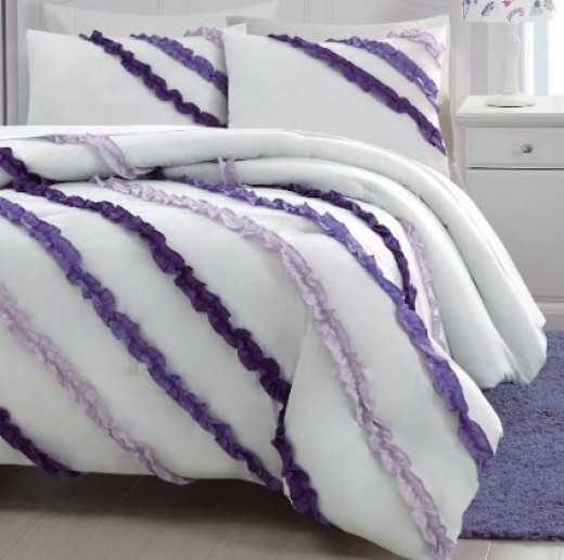 Girls' Purple Bedding Set Under $25