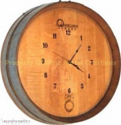 Wine Barrel Clocks Made from Repurposed Wine Barrels
