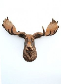 Faux Moose Head Wall Mounts