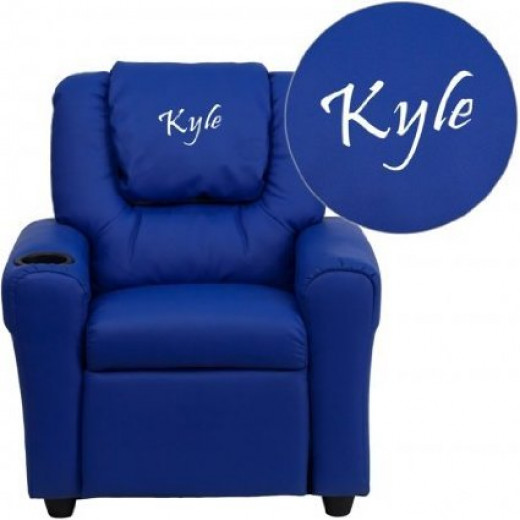 Personalized Vinyl Upholstery Kids' Recliner