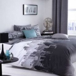 City Skyline Themed Bedding