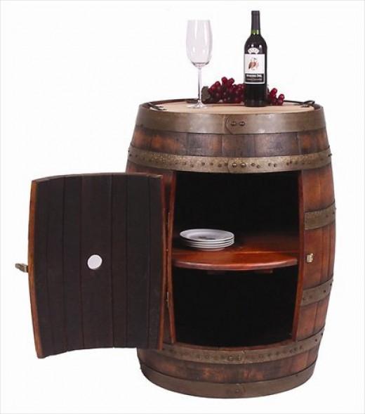 Repurposed Wine Barrel: Wine Tasting Table