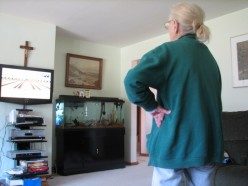 The exercise from playing Wii is so good for Mom and learning something new keeps her mentally active. She says she would rather bowl than watch Law And Order.