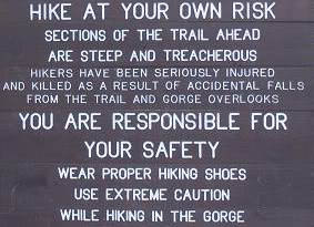 Always heed trail warnings