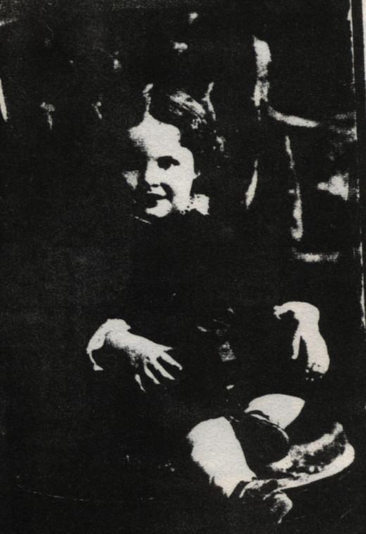 Christie McPhee as a child