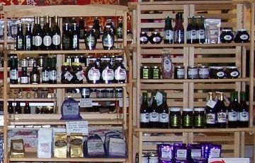 Large selection of huckleberry products