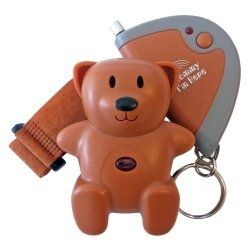 Popular lost-child alert device is shaped like a little teddy bear. Fasten it to your child's clothing or sneakers so it's always on - a cute accessory as well as a potentially life-saving device!