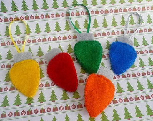 Felt Christmas Light Pins/Ornaments by Ritzee Rebel, on Flickr