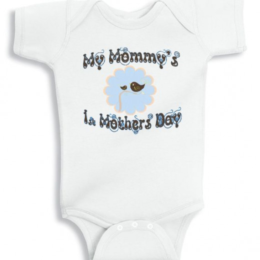 My first mothers day baby onesie for boy