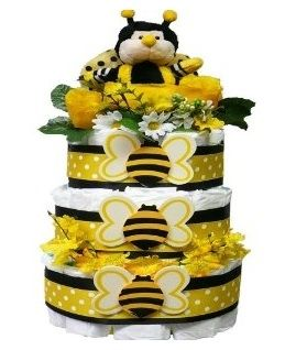 Bee My Baby Diaper Cake Gift Tower for Boys or Girls