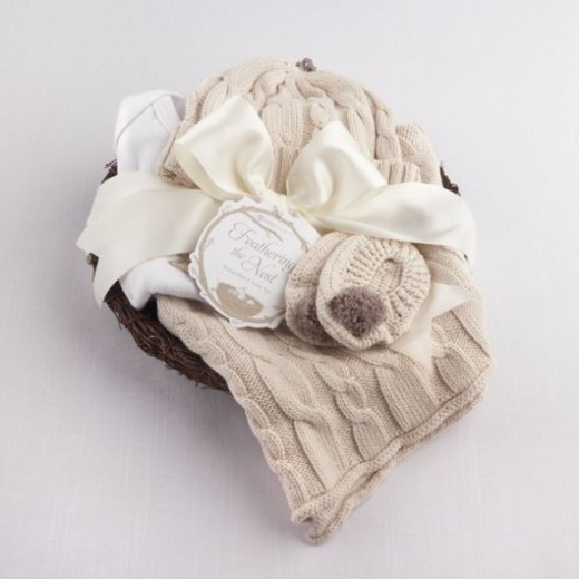 Feathering the Nest Four-Piece Layette Unique Gift Set