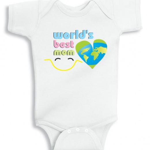 World's Best Mom - personalized baby onesie