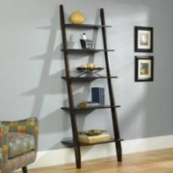 Off-the-Wall Furniture:  Leaning Ladder Book Shelves