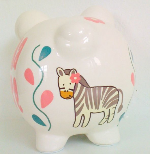Little Jungle 2 - Personalized piggy bank for kids from NanyCrafts.com