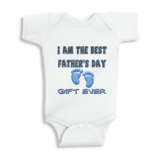 I am the best fathers day gift ever - Personalized baby bodysuit