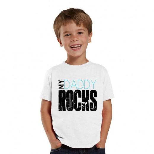 My Daddy Rocks Kids Shirt for Boys