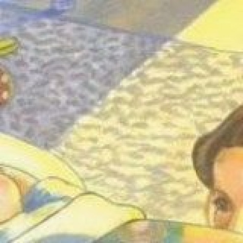 Floor rug - detail of Sheila McGraw illustration for Love You Forever by Robert Munsch