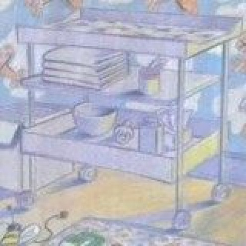 Change Table - detail of Sheila McGraw illustration for Love You Forever by Robert Munsch