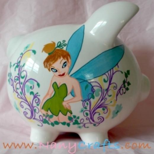 New Tinkerbell piggy bank