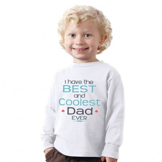 I have the Best and Coolest DAD ever Father's day Kids Shirt