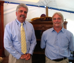 Joe Hessney (L) and Mike, his assistant auctioneer.