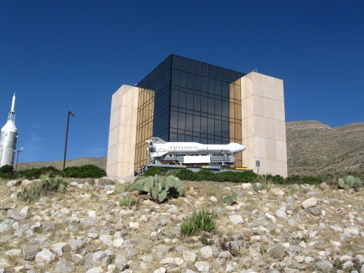 Museum of Space History perched on hill above the city of Almagordo