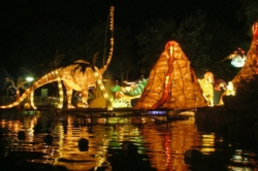 Dinosaurs at the Lantern Festival in Toronto, by John Vetterli