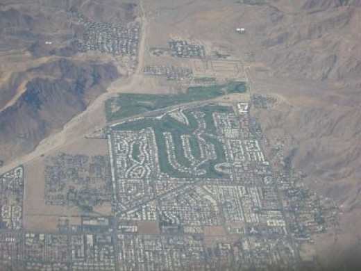 Aerial Shot of Palm Springs Area