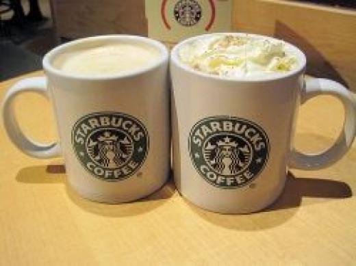 Starbucks lattes