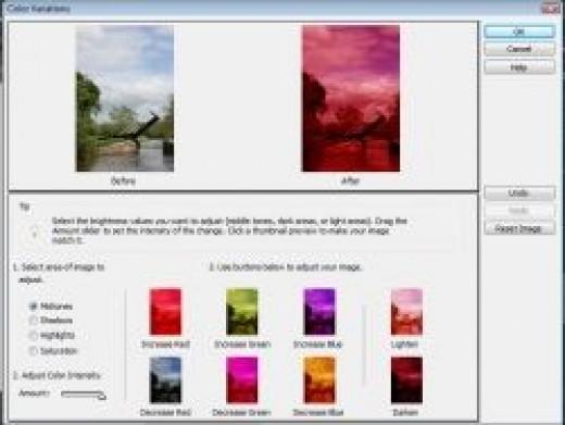 Colour Variations Screenshot