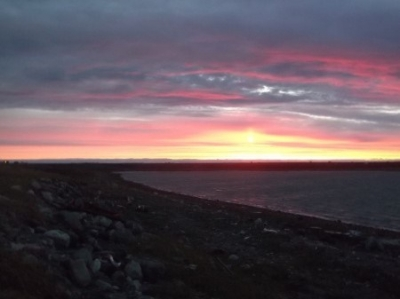 Arviat at sunset