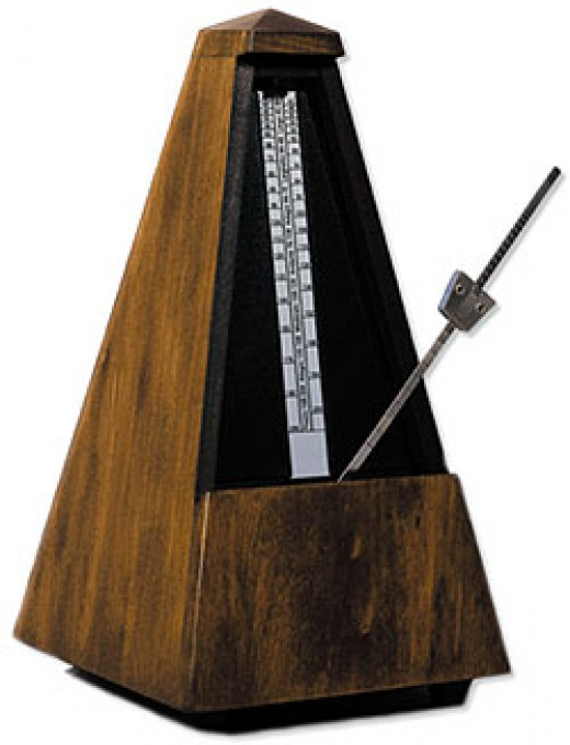 Classic Metronome , they are very soothing too like a ticking clock:P at any speed you desire