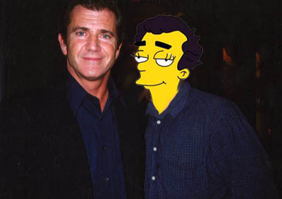With Mel Gibson